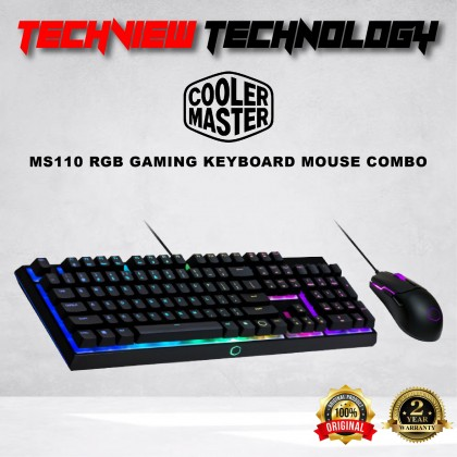 COOLER MASTER MS110 RGB GAMING KEYBOARD MOUSE COMBO
